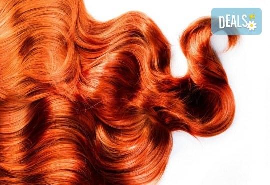 Блестящ цвят! Боядисване с професионални бои Fanola или Alfaparf, подстригване и оформяне със сешоар в Beauty Vision! - Снимка 1