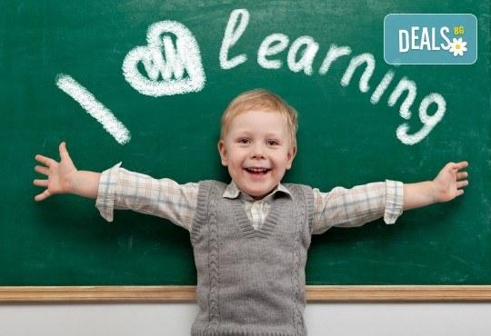 Английски за малчугани от 3 до 6 г. по метода Montessori, 2 посещения по 1 уч.ч., група 2 - 6 деца, събота от 12:30ч в Образователна академия Smile - Снимка 1