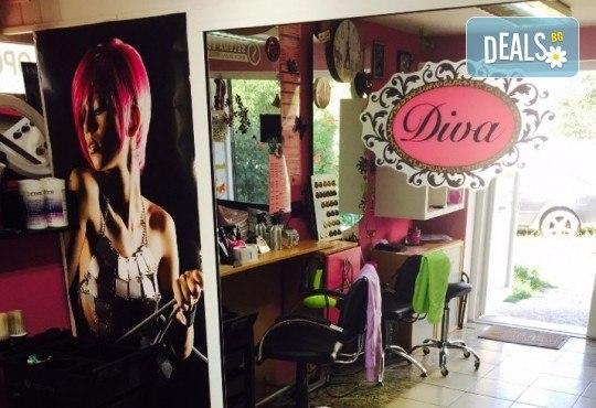 Масажно измиване, дълбоко подхранваща терапия с продуктите на Farma Vita и оформяне на прическа с прав сешоар в салон за красота Diva! - Снимка 3