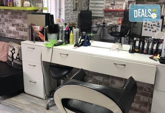 Възстановяваща кератинова терапия за коса с инфраред преса, масажно измиване и прав сешоар в салон Diva! - Снимка 8