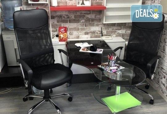 Възстановяваща кератинова терапия за коса с инфраред преса, масажно измиване и прав сешоар в салон Diva! - Снимка 5