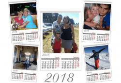 """Супер подарък за Вашите близки! Голям стенен """"7-листов календар"""" с 6 снимки на клиента и луксозен печат от Офис 2! - Снимка"""