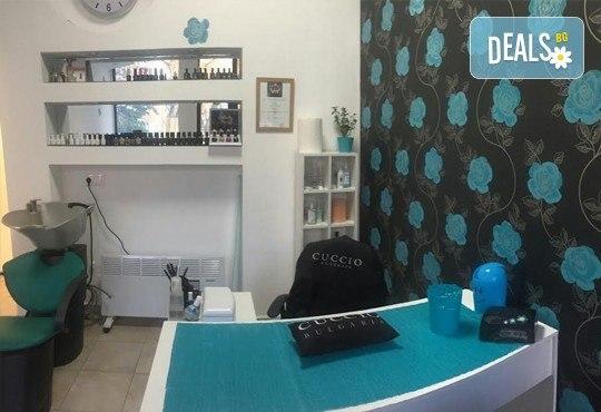 Класически или френски маниюр с гел лак Cuccio или Blue Sky, 2 красиви декорации, СПА терапия за ръце, включваща масаж и ексфолиант и сваляне на гел лак, в студио Beauty Vision! - Снимка 8