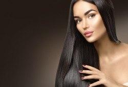 Стилна прическа бързо и евтино! Полиране на коса и стилизиране с дълбоко подхранващи продукти на KEUNE Ивелина Студио! - Снимка