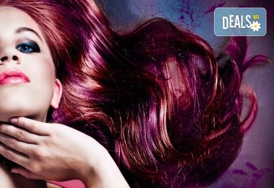 Боядисване с био боя Insight и оформяне със сешоар или ретро преса в студио за красота Déjà vu! - Снимка 1