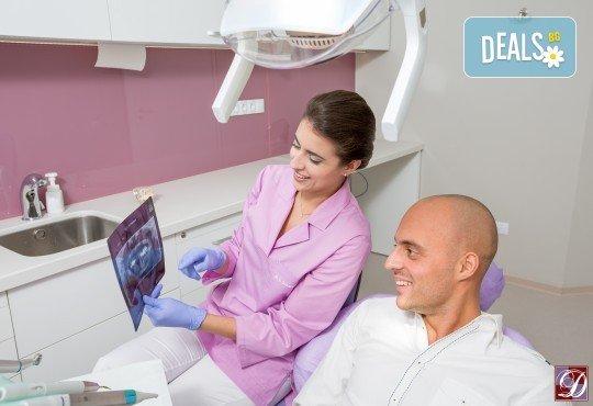 Обстоен дентален преглед, почистване на зъбен камък и зъбна плака с ултразвук и полиране с Air Flow в Deckoff Dental - Снимка 2