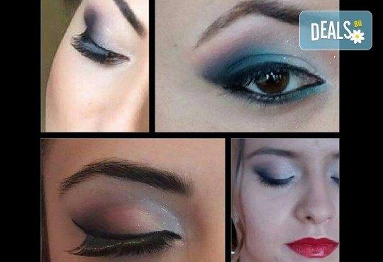 Професионален грим по избор - дневен, вечерен, сватбен на адрес на клиента и бонус: поставяне на мигли от Makeup Nails and Lashes by Katerina Nik - Снимка 4