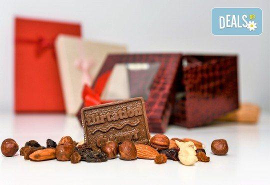 Кутия с 10 шоколадови късметчета, изработени от висококачествен белгийски гурме шоколад на марката Callebaut от Choco Compliment - Снимка 1