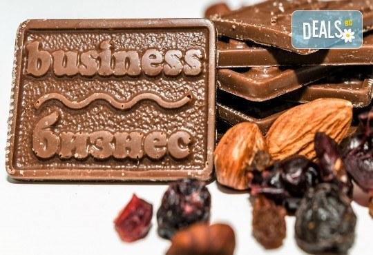 Кутия с 10 шоколадови късметчета, изработени от висококачествен белгийски гурме шоколад на марката Callebaut от Choco Compliment - Снимка 5