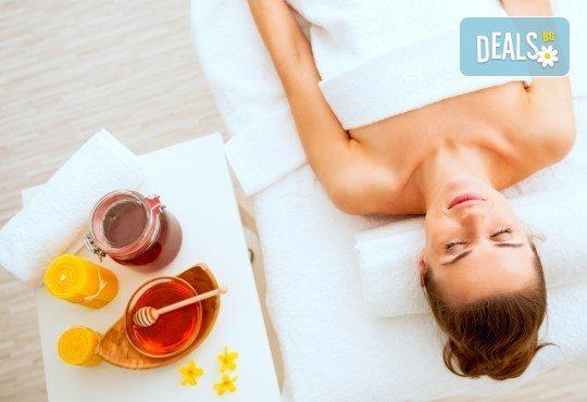 Релакс и здраве! 60-минутен меден масаж на гръб и крака в студио за красота Jessica - Снимка 2