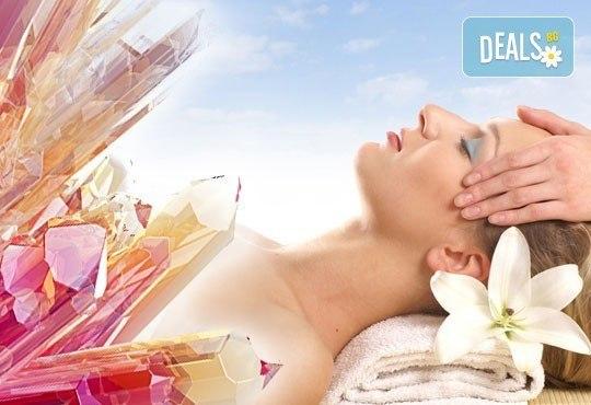 Зодиакално-енергиен чакра масаж на цяло тяло, кристалотерапия, масаж на лице с кристали, зонотерапия и арома масла в Спа център Senses Massage&Recreation! - Снимка 1