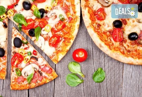 Голяма фамилна пица: Капричоза, Попай, Поло, Кариола или др. за вкъщи или за консумация на място в Ресторанти Златна круша! - Снимка 2