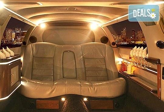 """Подарете SPA пакет """"San Diego""""! Трансфер с лимузина """"Lincoln"""" до Senses Massage & Recreation, синхронен масаж за двама, 2 чаши уиски, перлена вана и комплимент: ядки асорти от San Diego Limousines! - Снимка 14"""