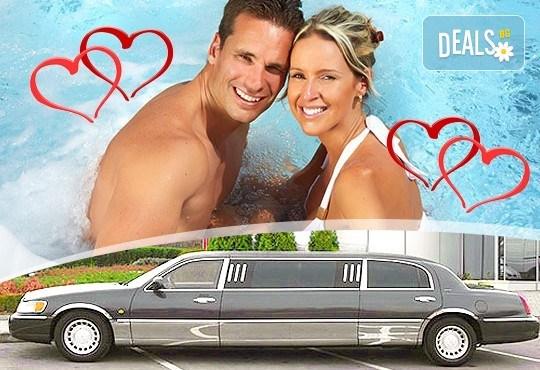 """Подарете SPA пакет """"San Diego""""! Трансфер с лимузина """"Lincoln"""" до Senses Massage & Recreation, синхронен масаж за двама, 2 чаши уиски, перлена вана и комплимент: ядки асорти от San Diego Limousines! - Снимка 1"""
