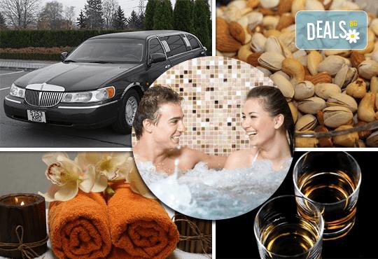 """Подарете SPA пакет """"San Diego""""! Трансфер с лимузина """"Lincoln"""" до Senses Massage & Recreation, синхронен масаж за двама, 2 чаши уиски, перлена вана и комплимент: ядки асорти от San Diego Limousines! - Снимка 17"""