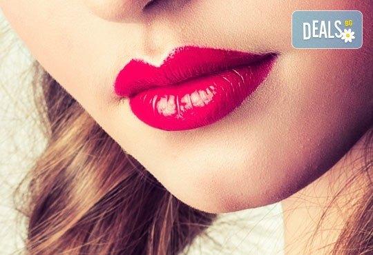За плътни и пухкави устни с красив контур! Перманентен грим тип омбре от салон за красота Sin Style - Снимка 1