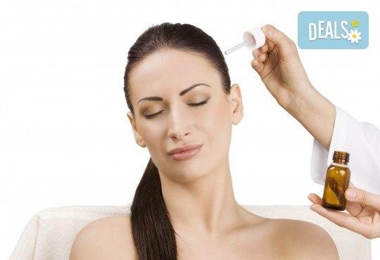 Арганова или кератинова терапия за коса, полиране и оформяне на прическа със сешоар в студио за красота Jessica - Снимка 3