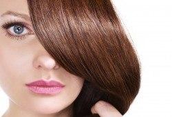 Арганова или кератинова терапия за коса, полиране и оформяне на прическа със сешоар в студио за красота Jessica - Снимка