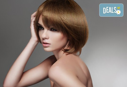 Арганова или кератинова терапия за коса, полиране и оформяне на прическа със сешоар в студио за красота Jessica - Снимка 2