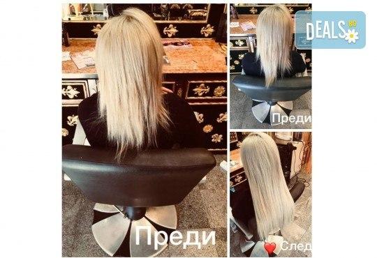 Удължаване и сгъстяване на коса със 100% естествени, натурални коси, боядисване за уеднаквяване на цвета, подстригване и преливане на косите в Studio Еxtravagant! - Снимка 3