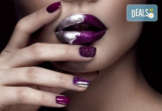 Гел върху естествен нокът за укрепване и здравина, класически или френски маникюр с хибридни лакове Depend и бонус: масаж на ръце от Beauty center D&M! - Снимка 1