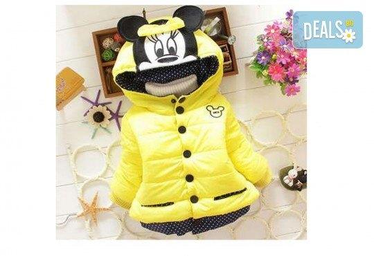 Подарък за Вашето дете! Зимно детско яке с Мини Маус за момичета в цвят по избор от Grizzly Mall - Снимка 3
