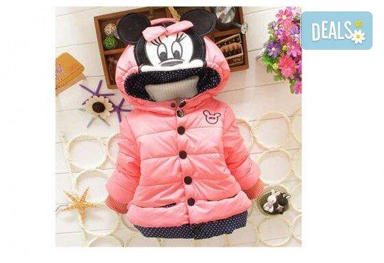 Подарък за Вашето дете! Зимно детско яке с Мини Маус за момичета в цвят по избор от Grizzly Mall - Снимка 4