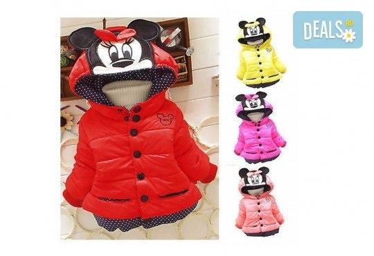 Подарък за Вашето дете! Зимно детско яке с Мини Маус за момичета в цвят по избор от Grizzly Mall - Снимка 2