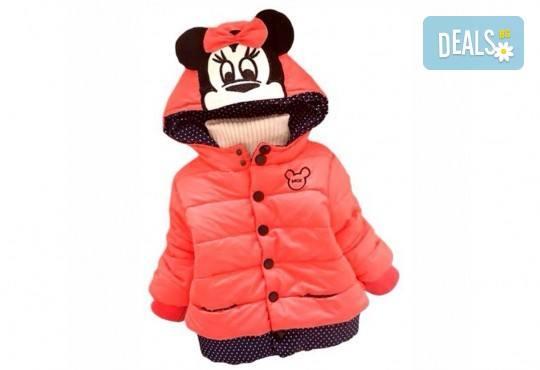 Подарък за Вашето дете! Зимно детско яке с Мини Маус за момичета в цвят по избор от Grizzly Mall - Снимка 1
