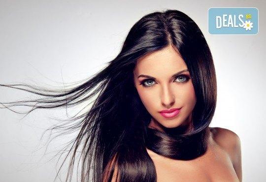 За обемна и красива коса! Масажно измиване и оформяне на прическа със сешоар в Art Hair Galerie - Снимка 1