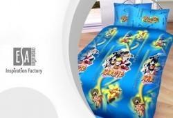 Изберете най-доброто! Единичен комплект спално бельо Наруто/ комплект с олекотена завивка и подарък, 100% ранфорс, антиалергична вата - Снимка