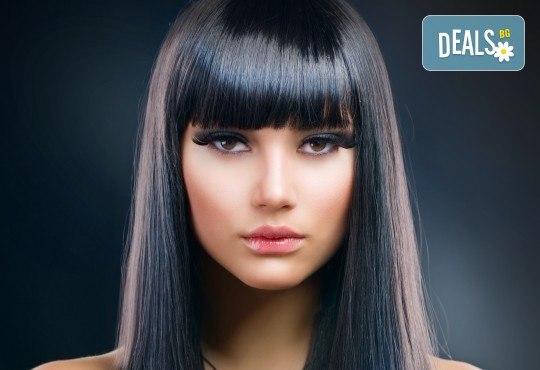 Ултразвукова биоламинираща терапия за коса, обработване със студена URS преса и оформяне със сешоар в Женско царство - Студентски град - Снимка 2