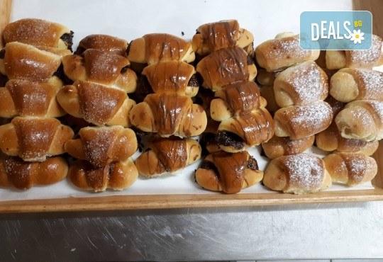 За празниците! 50 мини кифлички с шоколад, локум и мармалад + опаковка от Пекарна Слънце! - Снимка 1