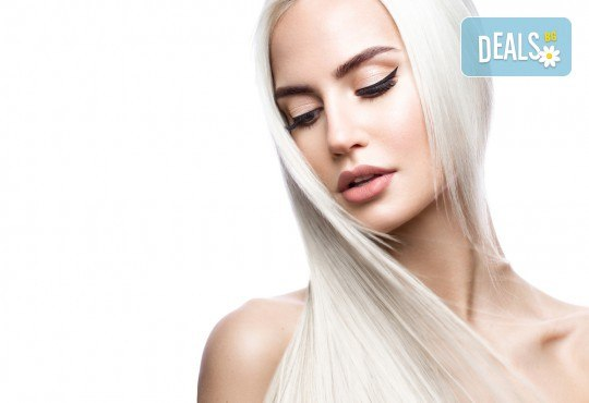 Ламиниране на коса, масажно измиване и прав сешоар в салон Diva