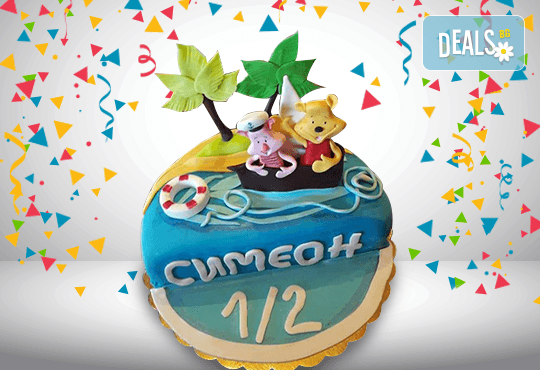 Детска фигурална торта за бебета на 6 месеца от Сладкарница Джорджо Джани!