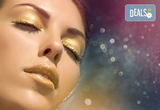 Заглаждане на бръчките и фините линии с лифтинг терапия за лице с 24К злато и хиалурон в салон за красота Престиж, Яворец! - Снимка 1