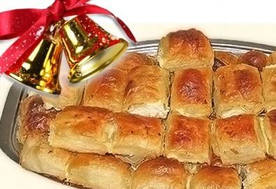 За Коледа и Нова година! Баница на хапки с 50 късмета и паричка за фирмени тържества или големи семейни празници от Работилница за вкусотии РАВИ! - Снимка