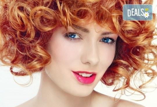 Боядисване с боя на клиента, подстригване, масажно измиване и сешоар - прав или букли в салон за красота Bella Style! - Снимка 2
