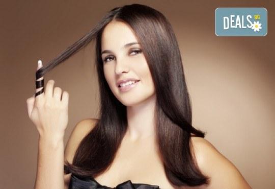 Най-новият метод за премахване на цъфтежи без отнемане на дължината на косата! Брюлаж, масажно измиване с подхранващ шампоан и оформяне на прическа със сешоар в Bella Style! - Снимка 1