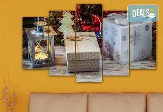 Коледна картина! 1 или 2 картини от по 5 части с коледни мотиви и богат избор на дизайни от каталога на Stardeko! - Снимка 17