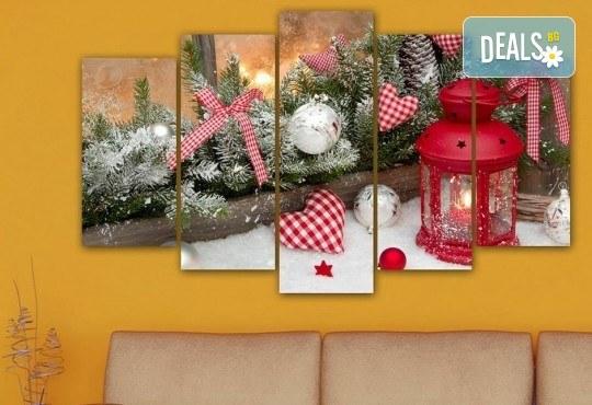 Коледна картина! 1 или 2 картини от по 5 части с коледни мотиви и богат избор на дизайни от каталога на Stardeko! - Снимка 14
