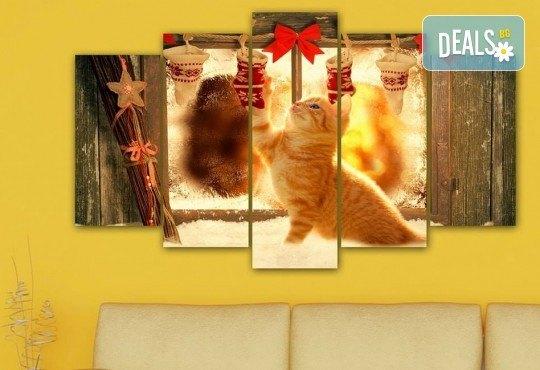 Коледна картина! 1 или 2 картини от по 5 части с коледни мотиви и богат избор на дизайни от каталога на Stardeko! - Снимка 12