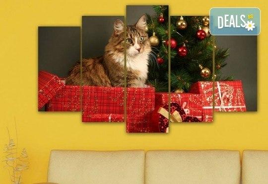 Коледна картина! 1 или 2 картини от по 5 части с коледни мотиви и богат избор на дизайни от каталога на Stardeko! - Снимка 11