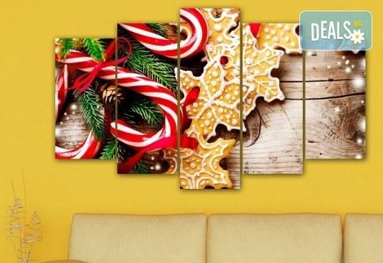 Коледна картина! 1 или 2 картини от по 5 части с коледни мотиви и богат избор на дизайни от каталога на Stardeko! - Снимка 5