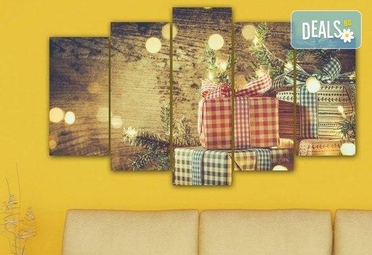 Коледна картина! 1 или 2 картини от по 5 части с коледни мотиви и богат избор на дизайни от каталога на Stardeko! - Снимка 18