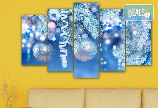 Коледна картина! 1 или 2 картини от по 5 части с коледни мотиви и богат избор на дизайни от каталога на Stardeko! - Снимка 19