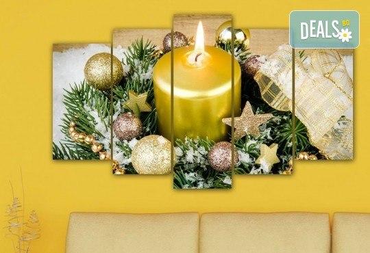 Коледна картина! 1 или 2 картини от по 5 части с коледни мотиви и богат избор на дизайни от каталога на Stardeko! - Снимка 13