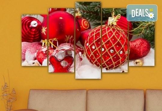 Коледна картина! 1 или 2 картини от по 5 части с коледни мотиви и богат избор на дизайни от каталога на Stardeko! - Снимка 7