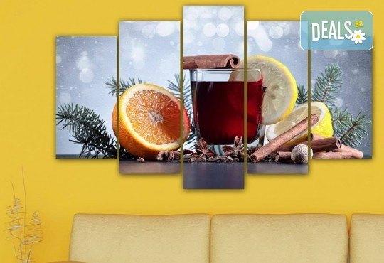 Коледна картина! 1 или 2 картини от по 5 части с коледни мотиви и богат избор на дизайни от каталога на Stardeko! - Снимка 20