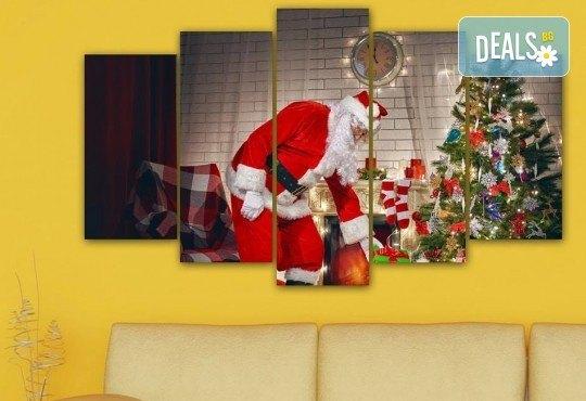 Коледна картина! 1 или 2 картини от по 5 части с коледни мотиви и богат избор на дизайни от каталога на Stardeko! - Снимка 4